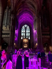 At the Community President's dinner at Liverpool's magnificent protestant cathedra